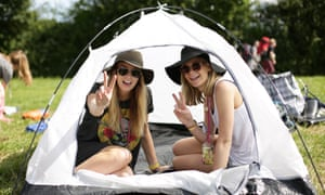 Hardened festivalgoers despair of glampers who bring in a load more money for organisers.