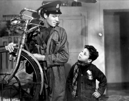 The 1948 film adaptation of <em>The Bicycle Thieves</em>.