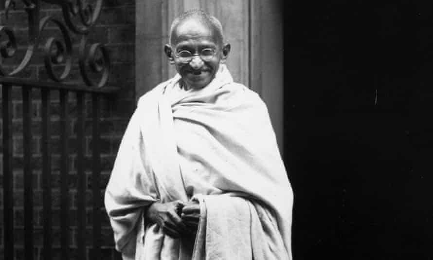 Mahatma Gandhi  outside 10 Downing Street, London. A statesman who really knew how to say no to colonial oppression, and in a peaceful way.