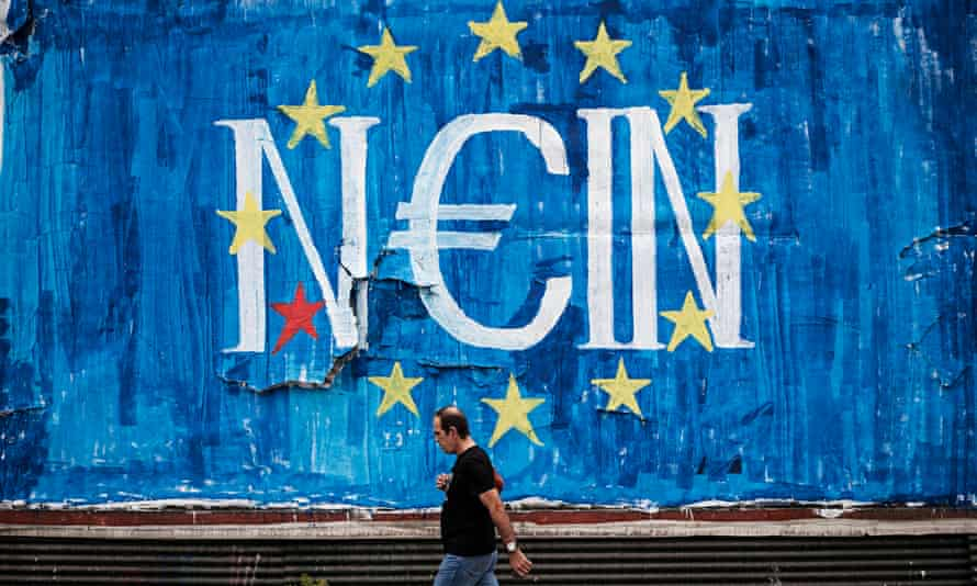 Anti-euro graffiti in Athens