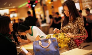 Shanghai shopping: many browsers, few buyers.