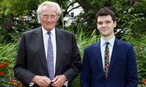 Anthony Howard Award winner Henry Zeffman with Lord Heseltine.