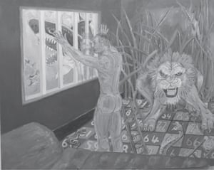 A prisoner's drawing depicting his experience in jail.