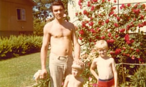 Stefan, centre, with his father Boris and older brother Carl in 1973.