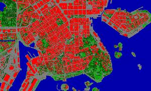 Helsinki temperatures map