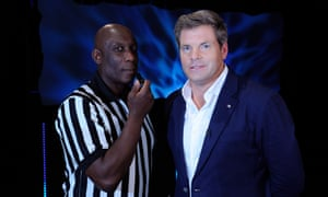 Former Premier League referee Uriah Rennie and Mark Durden-Smith host Freeze Out on ITV.