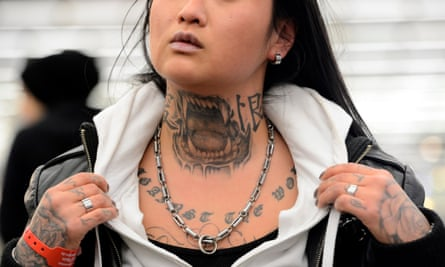 Women with neck tattoos