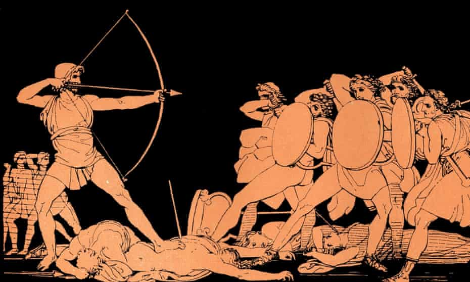 'Homer wrote the Iliad and latterly the Odyssey' ... Ulysses (Odysseus) fights back