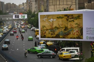 1,500 advertising billboards in Tehran were replaced with art for 10 days earlier this year.