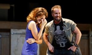 Mesmerising … Claudia Boyle and Robin Adams in The Last Hotel.