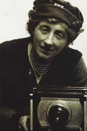 Olive Edis with her camera