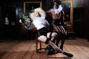 Performers at the recent Amy Grimehouse Paris is Burning Tudor Realiness night at the National Trust's Sutton House in London.