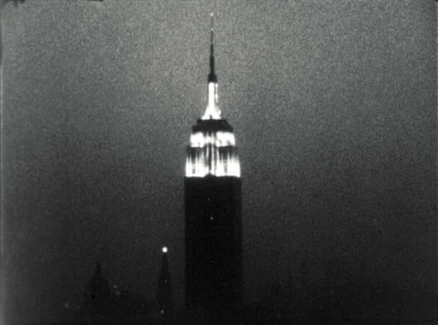 A still from Andy Warhol's film Empire