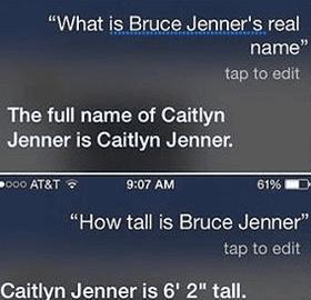 Siri Bruce Jenner