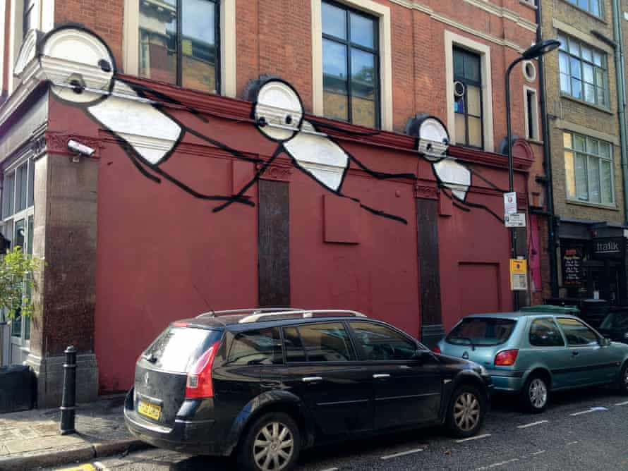 Flight by Stik, Hoxton Square, Hackney, London, 2012