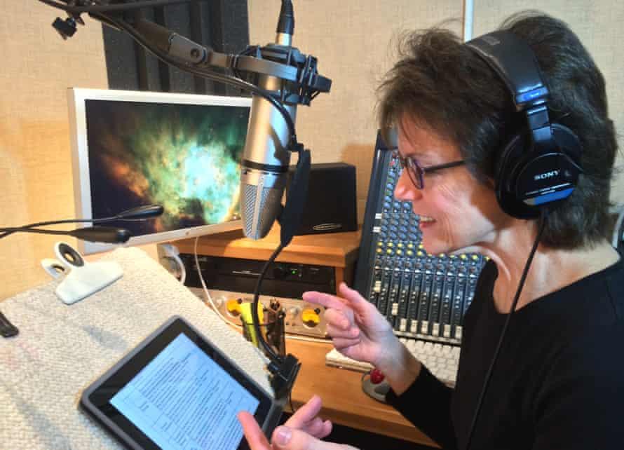 Susan Bennett in recording studio