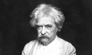 Samuel Clemens, aka Mark Twain, author of The Adventures of Huckleberry Finn (No 23).