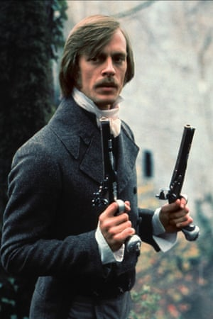 Growlers at the ready ... Keith Carradine in 'The Duellists'.