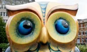 Eyes to the right… one of 89 giant owl sculptures.