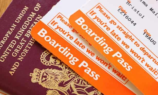 boarding passes and passport