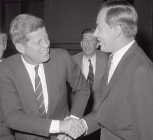 President John F Kennedy with Gore Vidal