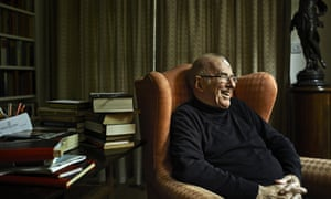 Clive James photographed at home in Cambridge.
