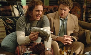 James Franco, left, and Seth Rogen as Dale Denton in Pineapple Express, 2008.
