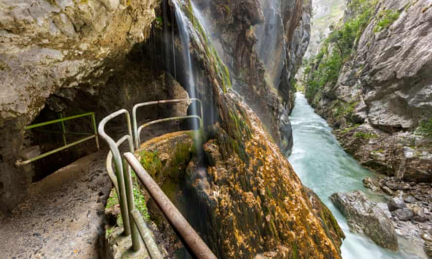 Cares Gorge footpath in the Picos de Europa National Park