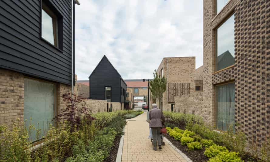 Abode, Great Kneighton, where expensive houses and more affordable units sit side by side.