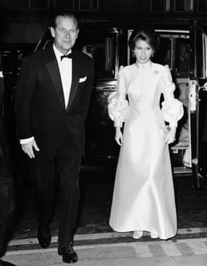 Prince Philip on his 50th birthday with his daughter, Princess Anne, in London , June 1971.