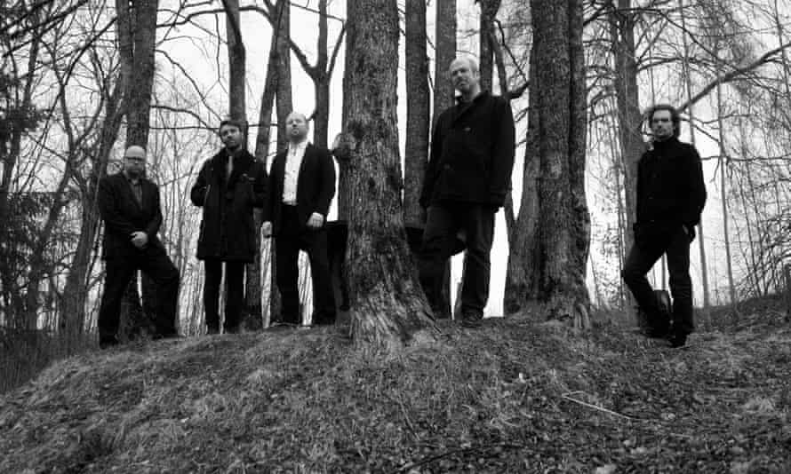 Nils Økland (second from right) and band.