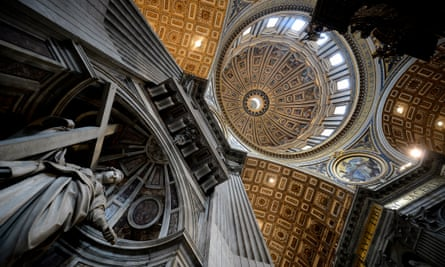 A view of the dome of St Peter's Basilica at the Vatican.