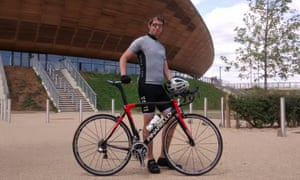 Peter Kimpton Pinarello Dogma bike outside London Velodrome