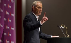 Britain's former Prime Minister and former Labour Party leader, Tony Blair, gestures as he speaks at an event attended by Labour supporters in central London on July 22, 2015.