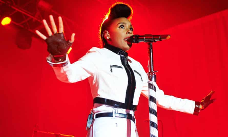 Janelle Monae performs on stage at Manchester Academy on 7 May 2014.