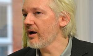 WikiLeaks founder Julian Assange speaks during a press conference inside the Ecuadorian embassy in London.