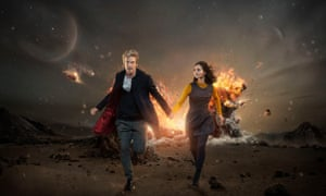 The Doctor and Clara, played by Peter Capaldi and Jenna Coleman.