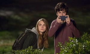 Cara Delevigne and Nat Wolff in Paper Towns.