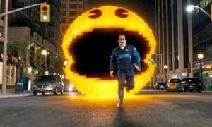 Josh Gad makes a run for it in Chris Columbus's film Pixels