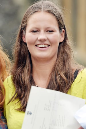 Isabella Soames, great grand-daughter of Sir Winston Churchill, achieved three A*'s in her A-level results at Brighton College in Sussex