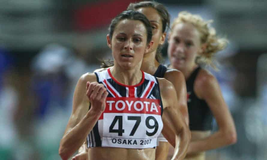Jo Pavey competes during the women's 10,000m final in 2007, for which she is now due to be awarded bronze.
