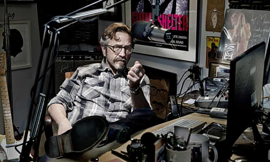 Marc Maron in his Los Angeles home studio where he records the WTF podcast.