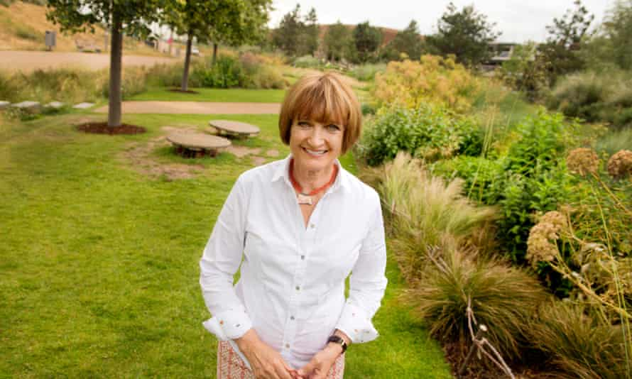 Tessa Jowell photographed in London's Queen Elizabeth Olympic Park.