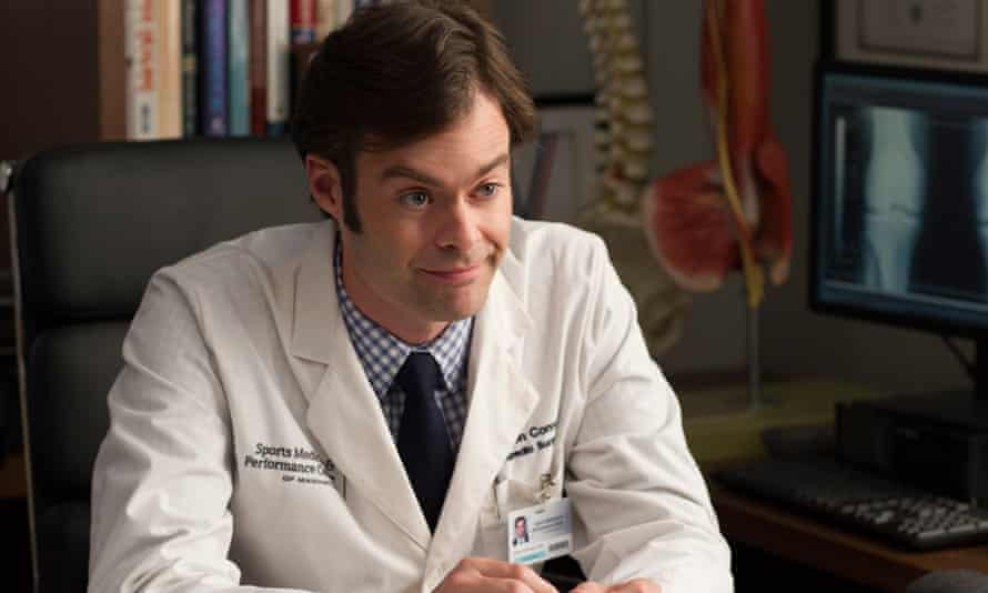 Bill Hader as Dr Aaron Conners in Trainwreck.