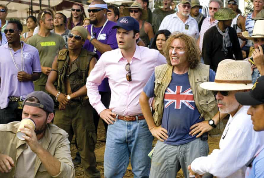 Hader with Steve Coogan in Tropic Thunder, 2008.