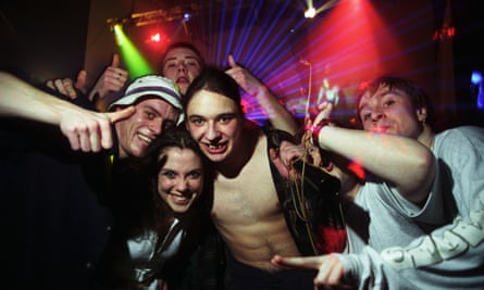 Partygoers at a Dream FM rave.