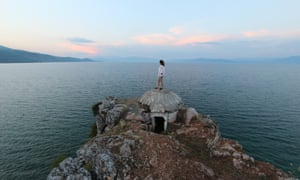 A communist-era bunker on Lake Ohrid, Albania.