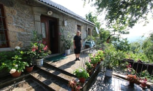 Floria in the garden at her homestay in the village of Dardhe.