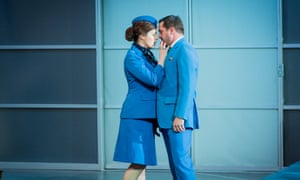 Kitty Whately and George von Bergen in Flight at Opera Holland Park.