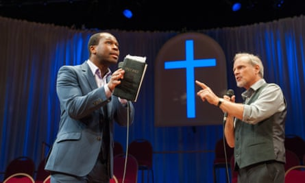 Stefan Adegbola, left, with William Gaminara in The Christians;